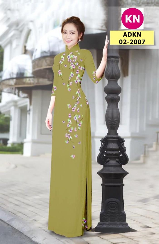 Vải bộ áo dài in đẹp ADKN 02-2007 (vải áo và vải quần )10