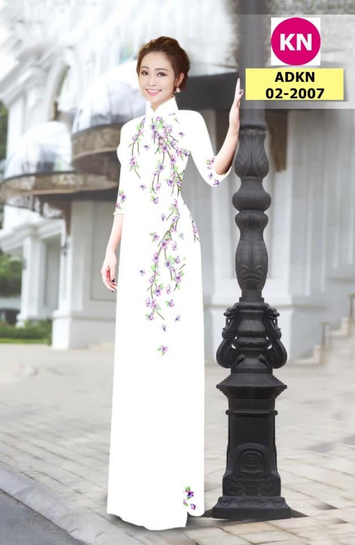 Vải bộ áo dài in đẹp ADKN 02-2007 (vải áo và vải quần )14