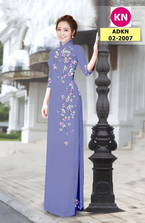 Vải bộ áo dài in đẹp ADKN 02-2007 (vải áo và vải quần )15
