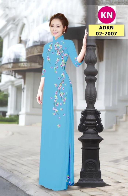 Vải bộ áo dài in đẹp ADKN 02-2007 (vải áo và vải quần )4