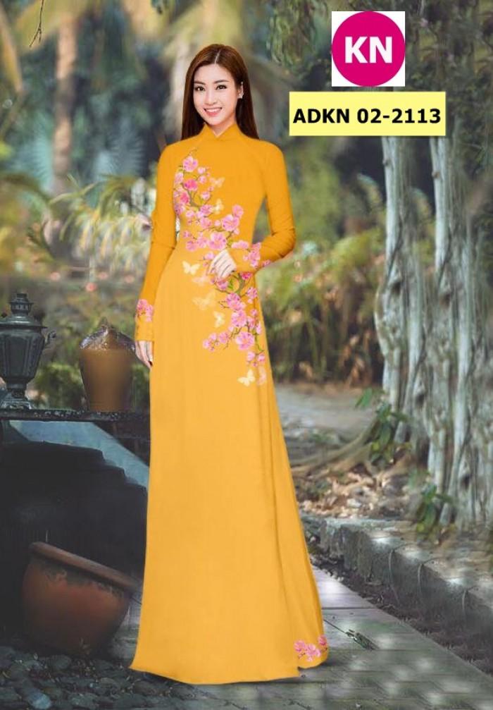 Vải bộ áo dài in đẹp ADKN 02-2113 (vải áo và vải quần )18