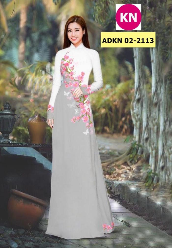 Vải bộ áo dài in đẹp ADKN 02-2113 (vải áo và vải quần )15