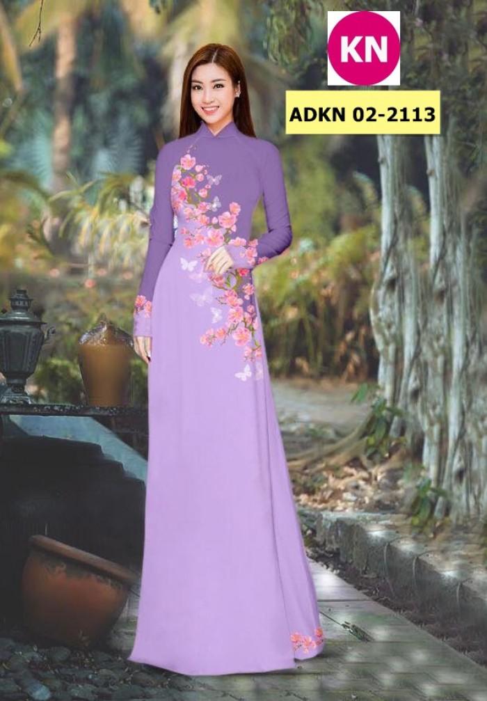 Vải bộ áo dài in đẹp ADKN 02-2113 (vải áo và vải quần )16