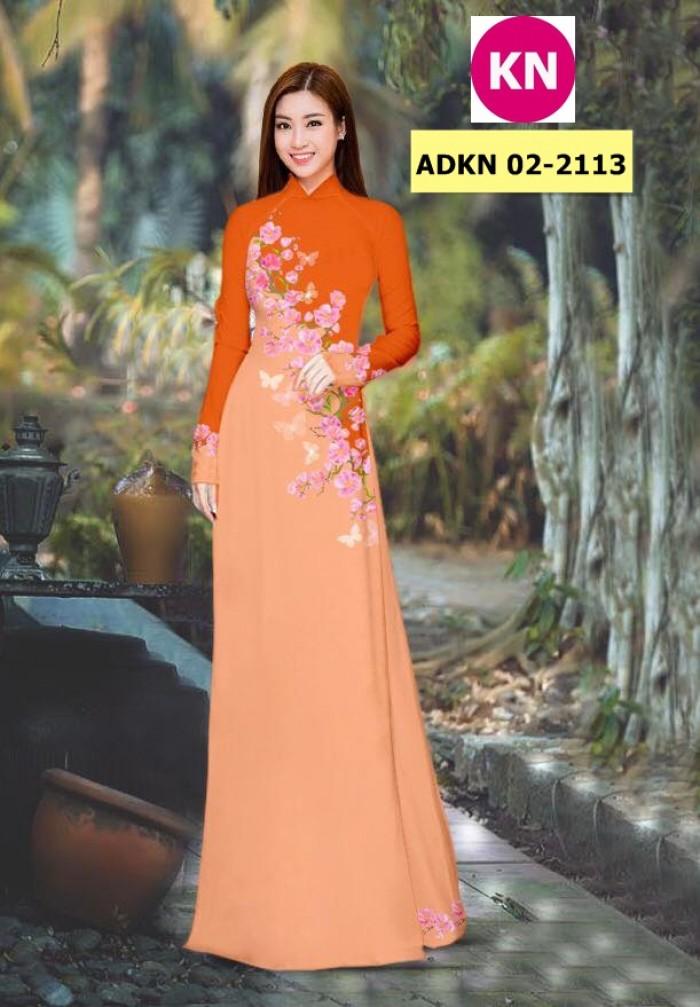 Vải bộ áo dài in đẹp ADKN 02-2113 (vải áo và vải quần )17