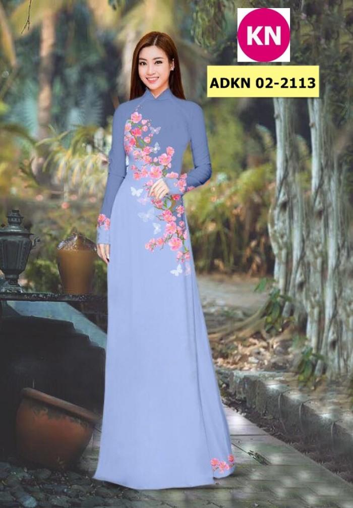 Vải bộ áo dài in đẹp ADKN 02-2113 (vải áo và vải quần )12