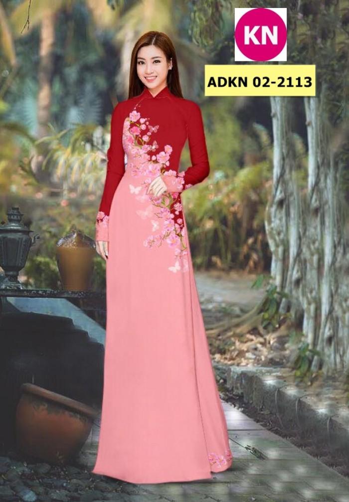 Vải bộ áo dài in đẹp ADKN 02-2113 (vải áo và vải quần )11