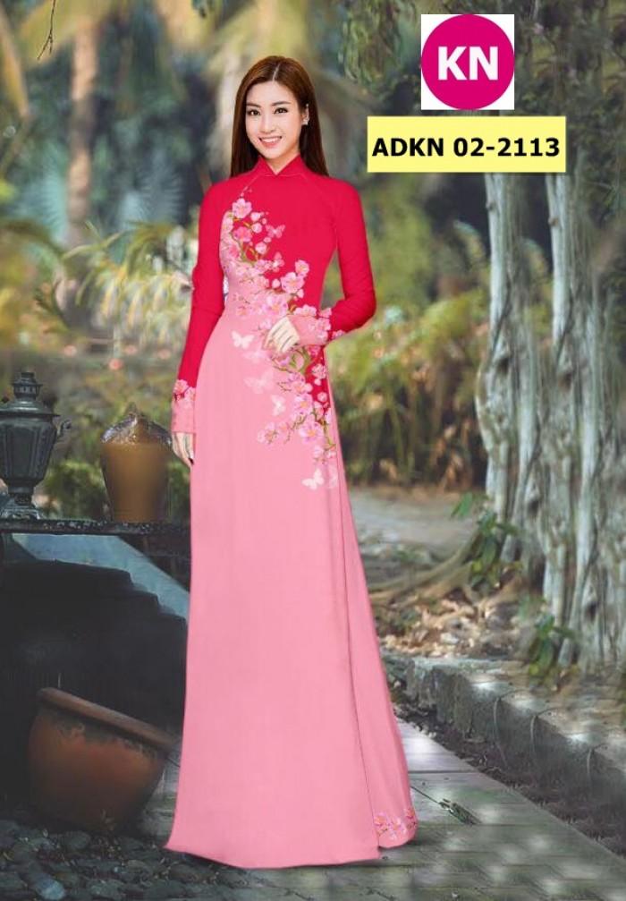 Vải bộ áo dài in đẹp ADKN 02-2113 (vải áo và vải quần )6