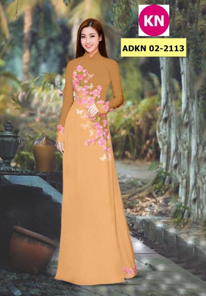 Vải bộ áo dài in đẹp ADKN 02-2113 (vải áo và vải quần )13
