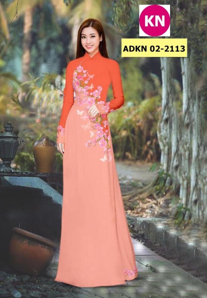 Vải bộ áo dài in đẹp ADKN 02-2113 (vải áo và vải quần )5
