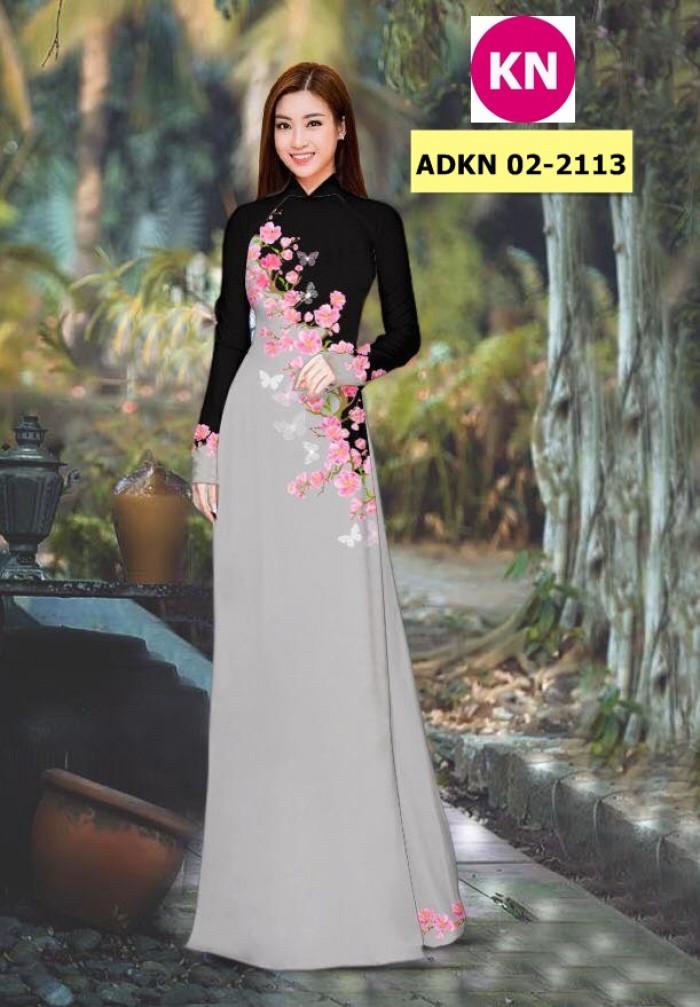 Vải bộ áo dài in đẹp ADKN 02-2113 (vải áo và vải quần )8
