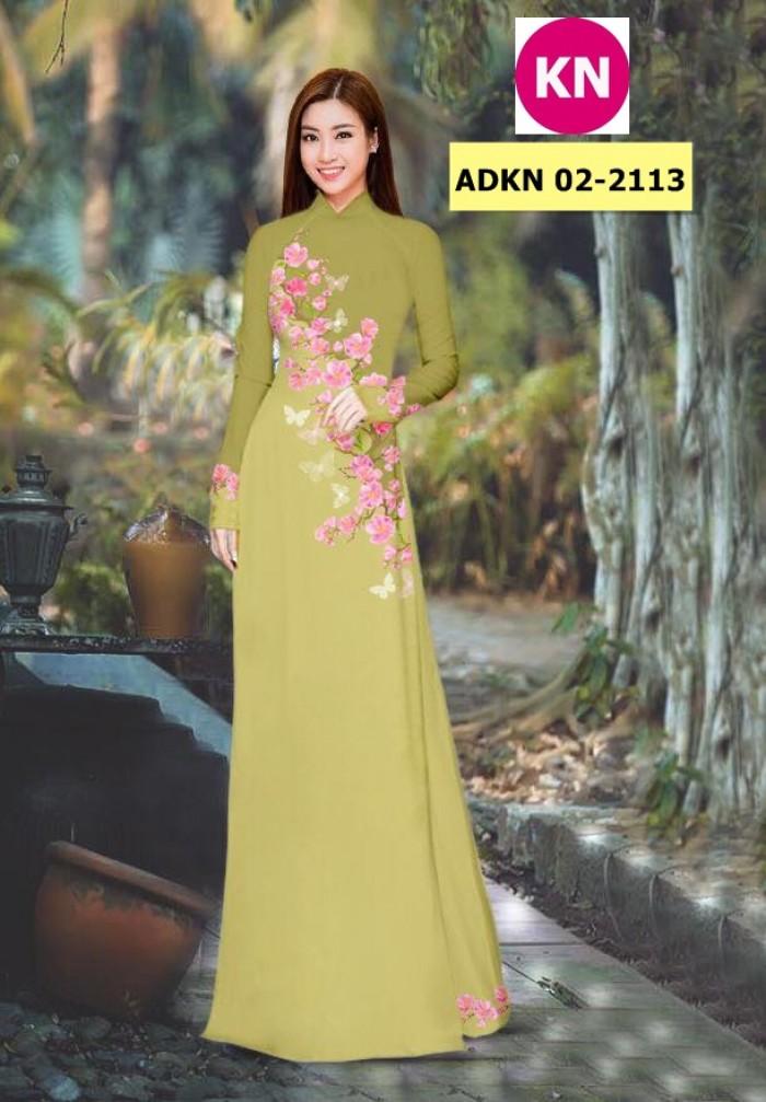Vải bộ áo dài in đẹp ADKN 02-2113 (vải áo và vải quần )3