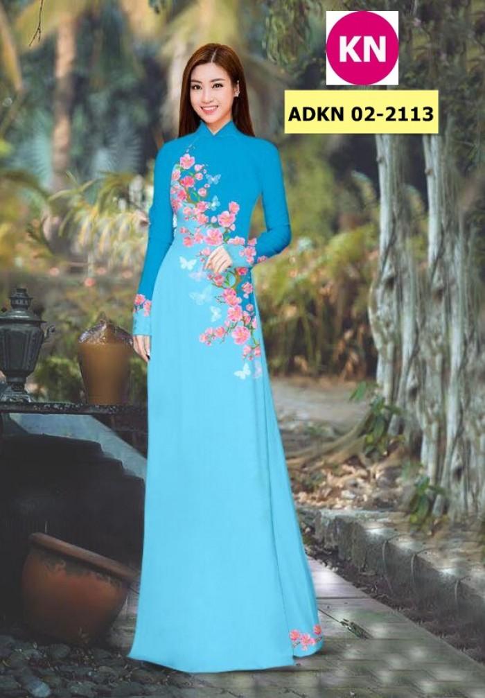 Vải bộ áo dài in đẹp ADKN 02-2113 (vải áo và vải quần )4