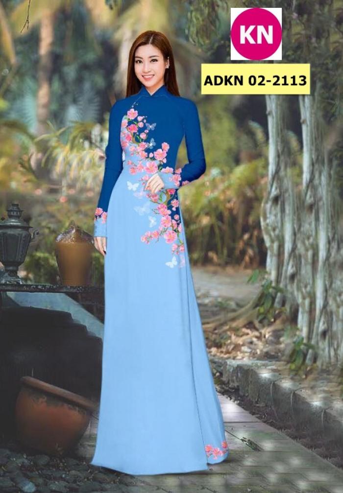 Vải bộ áo dài in đẹp ADKN 02-2113 (vải áo và vải quần )14
