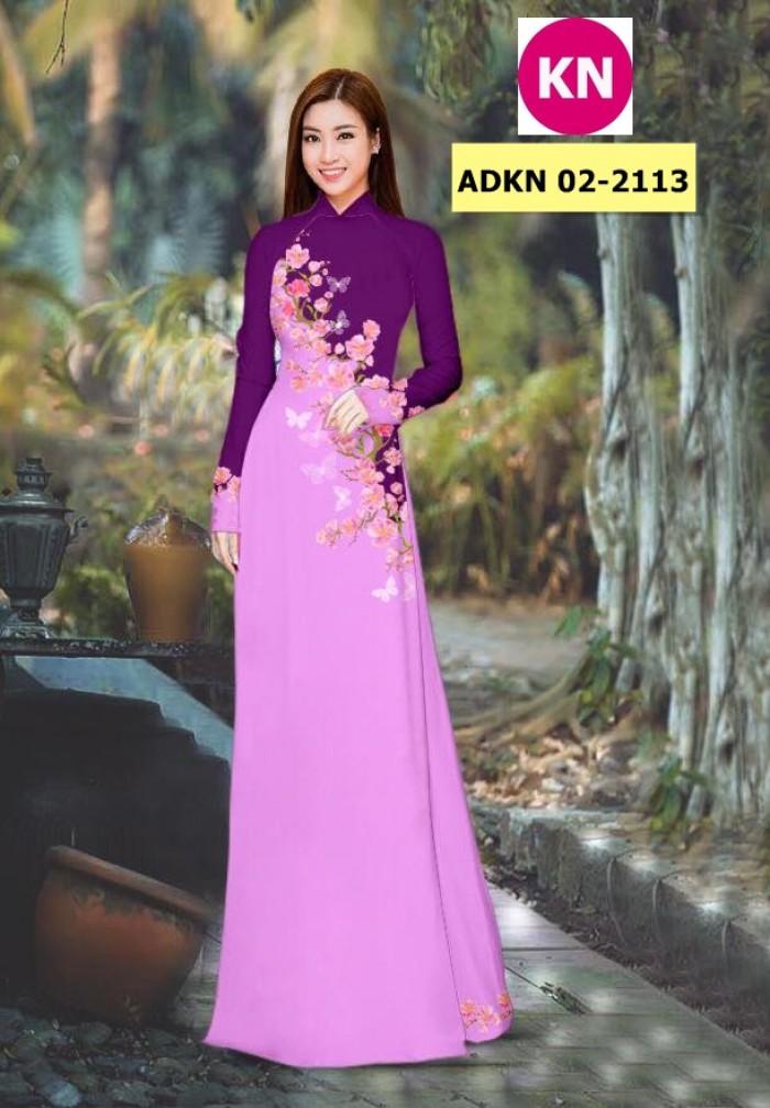 Vải bộ áo dài in đẹp ADKN 02-2113 (vải áo và vải quần )2