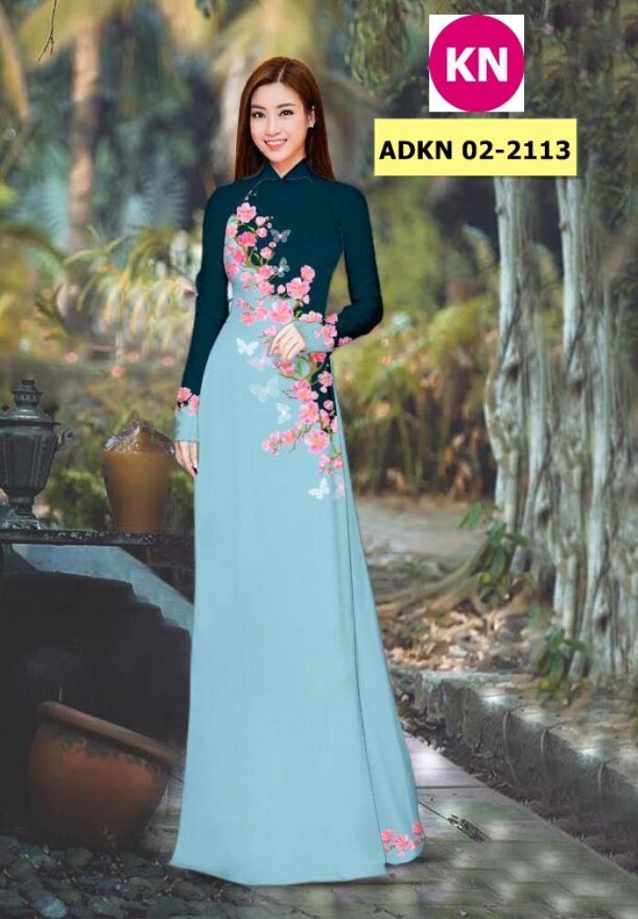 Vải bộ áo dài in đẹp ADKN 02-2113 (vải áo và vải quần )7