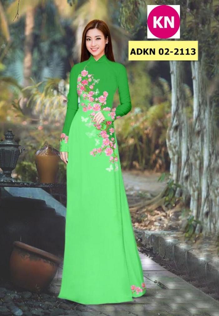 Vải bộ áo dài in đẹp ADKN 02-2113 (vải áo và vải quần )9