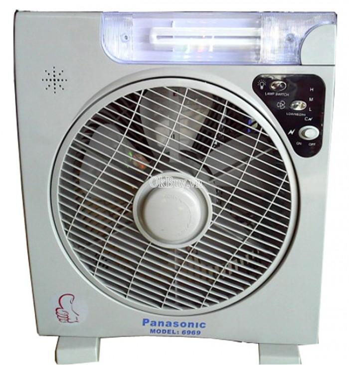 Quạt tích điện  panasonic 6969 có 2 bình ac quy bảo hành 6 tháng1