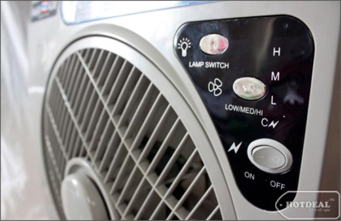 Quạt tích điện  panasonic 6969 có 2 bình ac quy bảo hành 6 tháng0