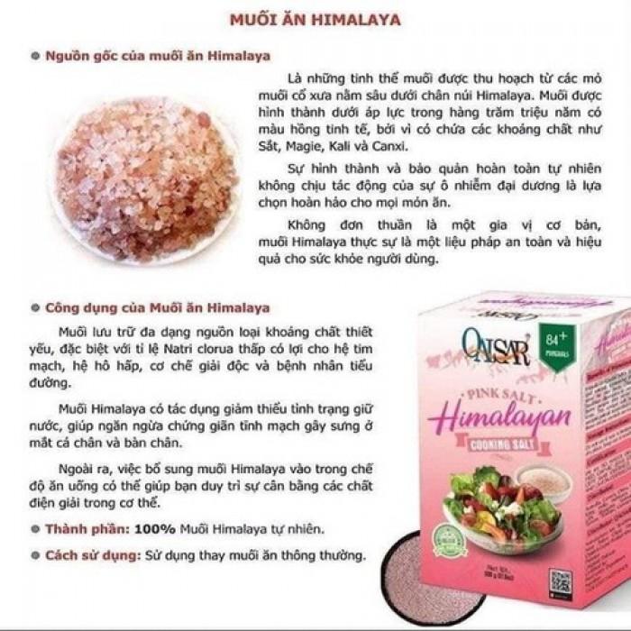 Muối hồng tinh khiết Himalayan Qaisar 500g hạt mịn nhập khẩu Pakistan4