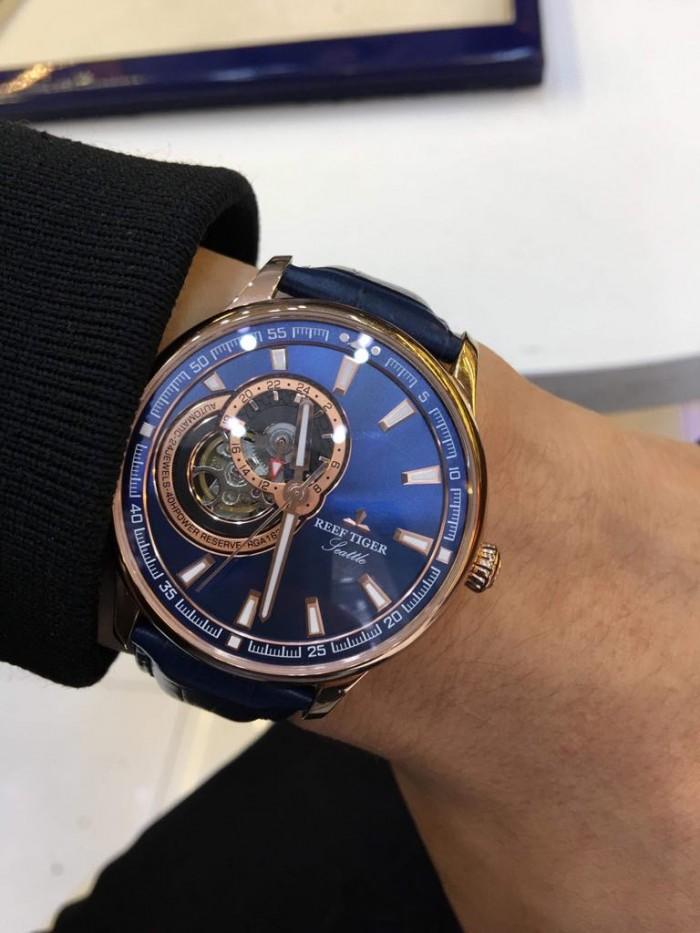 Đồng hồ nam REEF TIGER RGA1693 xanh rose gold0