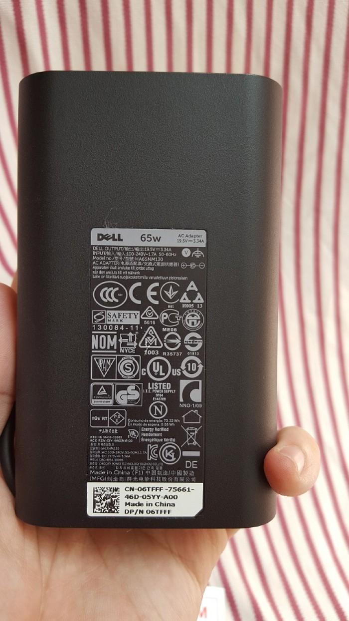 Sạc zin laptop Dell Ovan 65w Slim (19.5v-3,34A) đầu kim to - Có đèn ở đầu sạc2