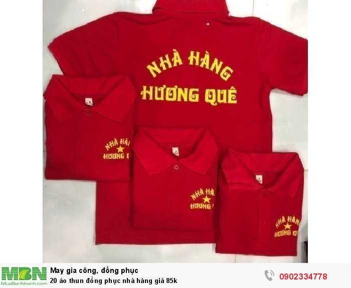 20 áo thun đồng phục nhà hàng giá 85k