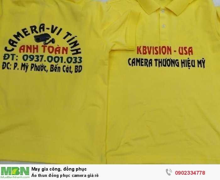 Áo thun đồng phục camera giá rẽ