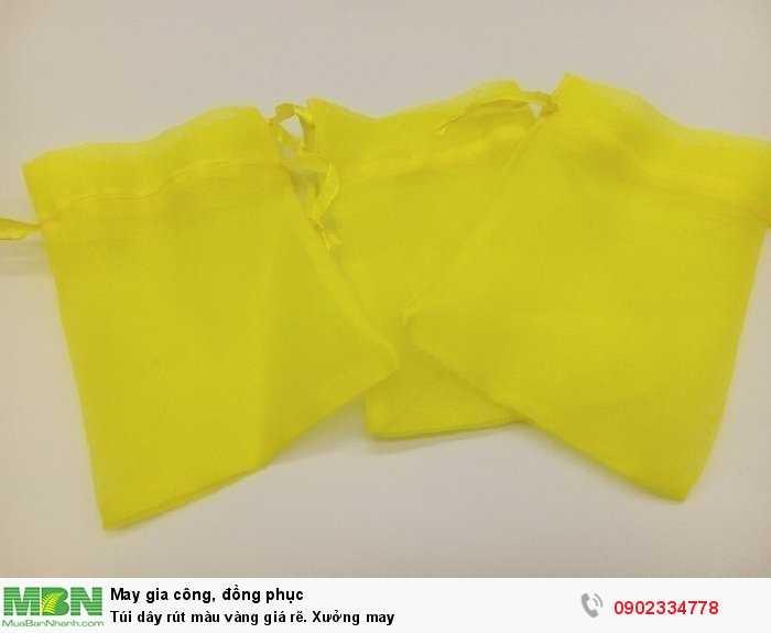 Túi dây rút màu vàng giá rẽ. Xưởng may