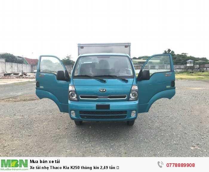 Xe tải nhẹ Thaco Kia K250 thùng kín 2,49 tấn ✅