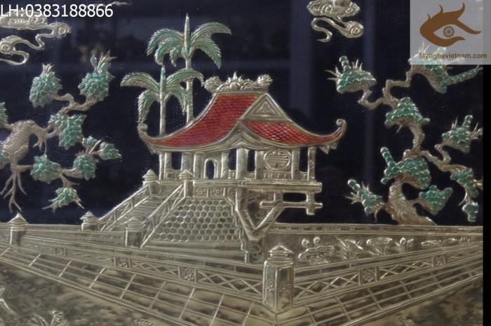 Tranh đồng chùa một cột quà tặng tân gia,khai trương cửa hàng2