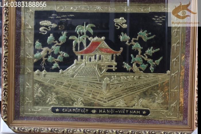 Tranh đồng chùa một cột quà tặng tân gia,khai trương cửa hàng0