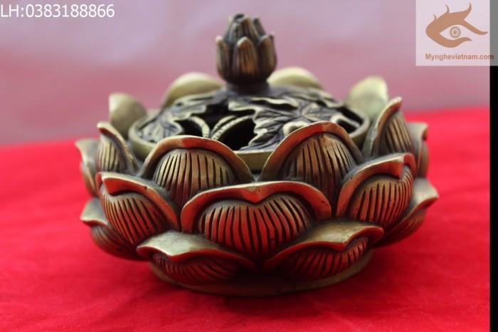 Đỉnh xông trầm hoa sen hàng loại 12