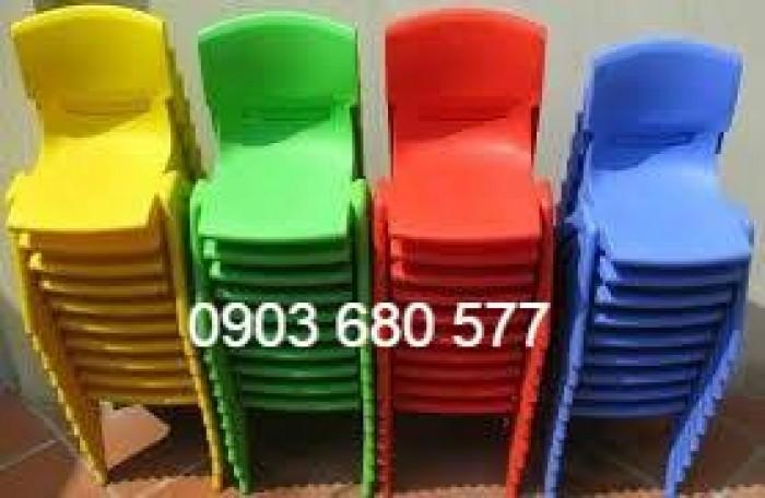 Bộ bàn ghế nhựa mầm non, gập chân bàn giá cực RẺ12