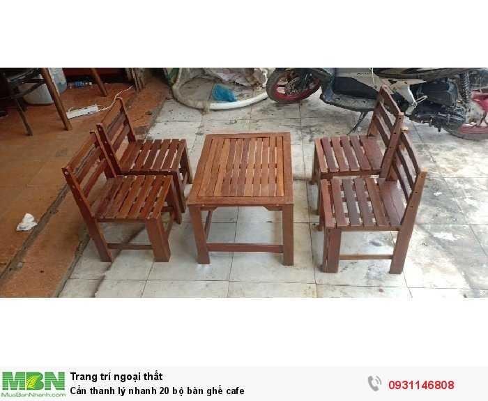 Cần thanh lý nhanh 20 bộ bàn ghế cafe0