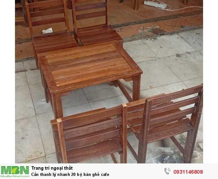 Cần thanh lý nhanh 20 bộ bàn ghế cafe1