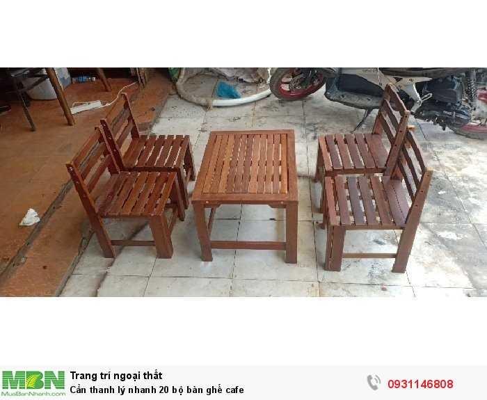 Cần thanh lý nhanh 20 bộ bàn ghế cafe2