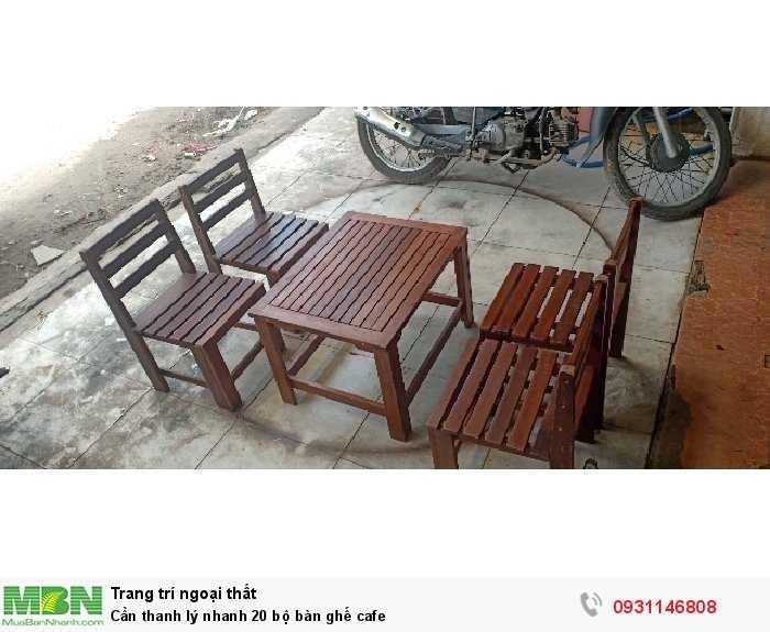 Cần thanh lý nhanh 20 bộ bàn ghế cafe3