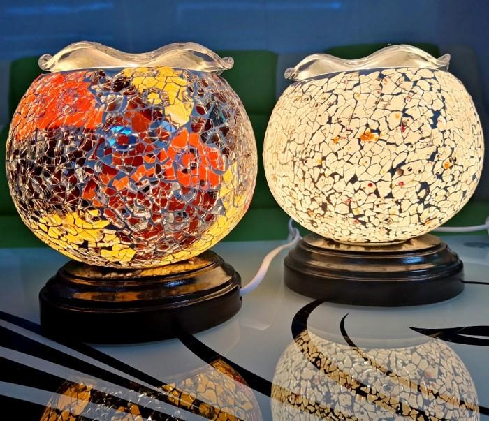 Đèn Xông Tinh Dầu Gốm Sứ Pha Lê Crystal Tặng Thêm Bóng Đèn5