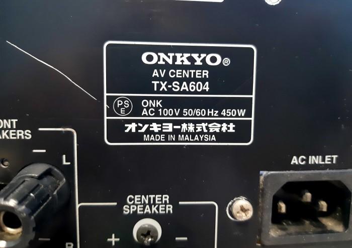 Ampli nội địa Nhật ONKYO TX SA 604 công suất khủng 450W15