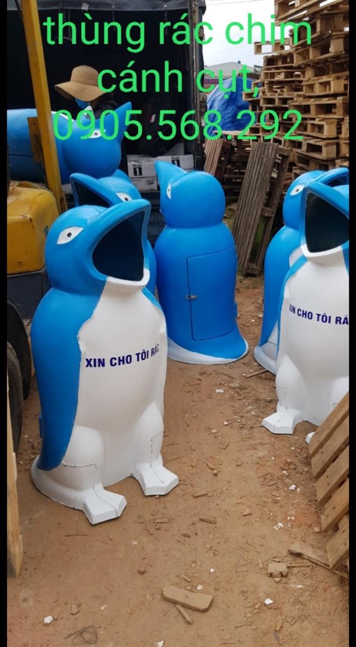 thùng rác chim cánh cụt, cá heo, chú hề,...0905568292 Thùng rác chim cánh cụt Đà Nẵng, Huế, Nha Trang,2