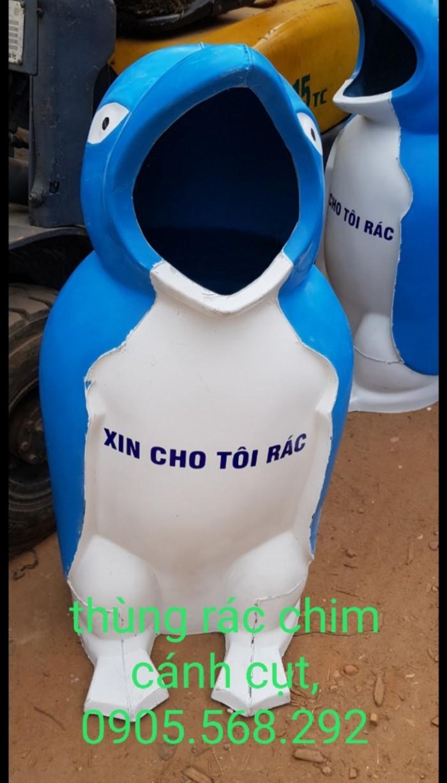 thùng rác chim cánh cụt, cá heo, chú hề,...0905568292 Thùng rác chim cánh cụt Đà Nẵng, Huế, Nha Trang,1