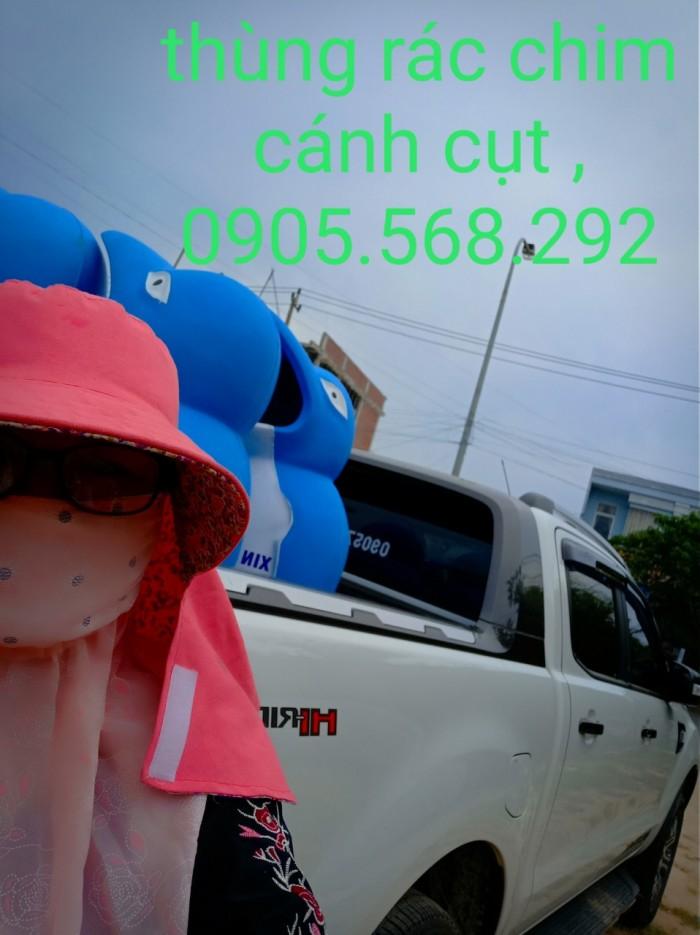 thùng rác chim cánh cụt, cá heo, chú hề,...0905568292 Thùng rác chim cánh cụt Đà Nẵng, Huế, Nha Trang,7