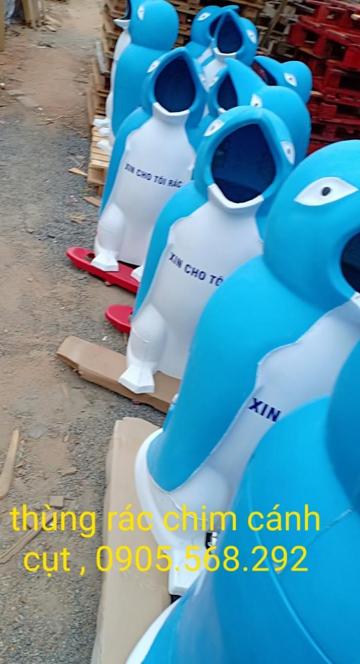 thùng rác chim cánh cụt, cá heo, chú hề,...0905568292 Thùng rác chim cánh cụt Đà Nẵng, Huế, Nha Trang,0
