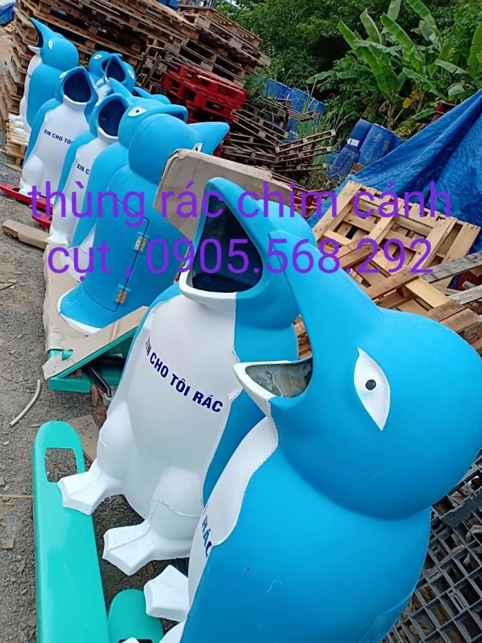 thùng rác chim cánh cụt, cá heo, chú hề,...0905568292 Thùng rác chim cánh cụt Đà Nẵng, Huế, Nha Trang,5
