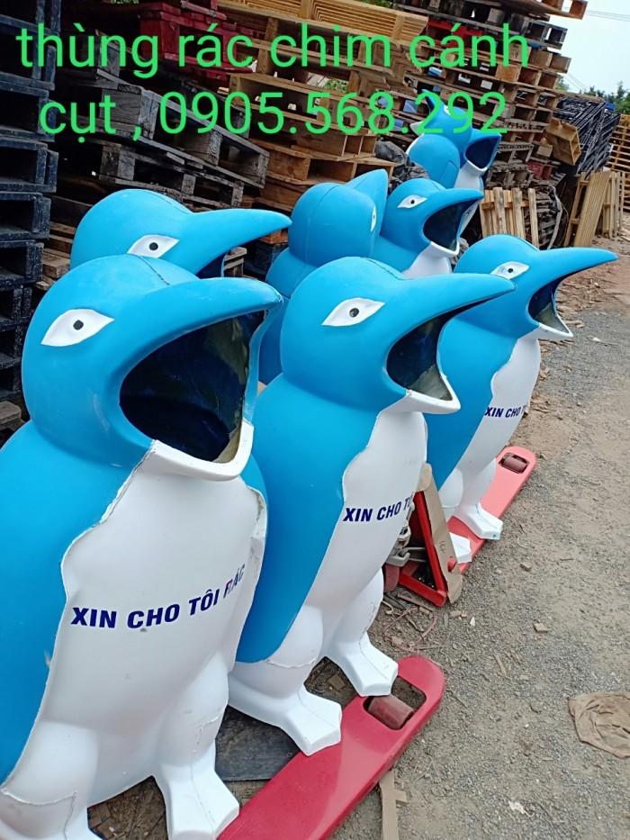 thùng rác chim cánh cụt, cá heo, chú hề,...0905568292 Thùng rác chim cánh cụt Đà Nẵng, Huế, Nha Trang,6