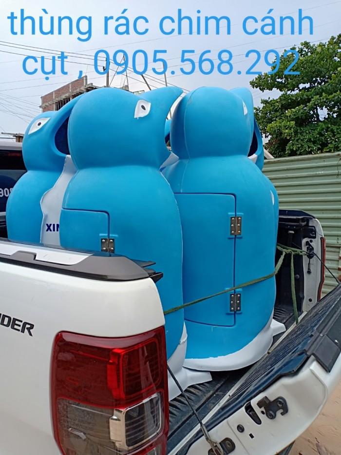 thùng rác chim cánh cụt, cá heo, chú hề,...0905568292 Thùng rác chim cánh cụt Đà Nẵng, Huế, Nha Trang,3