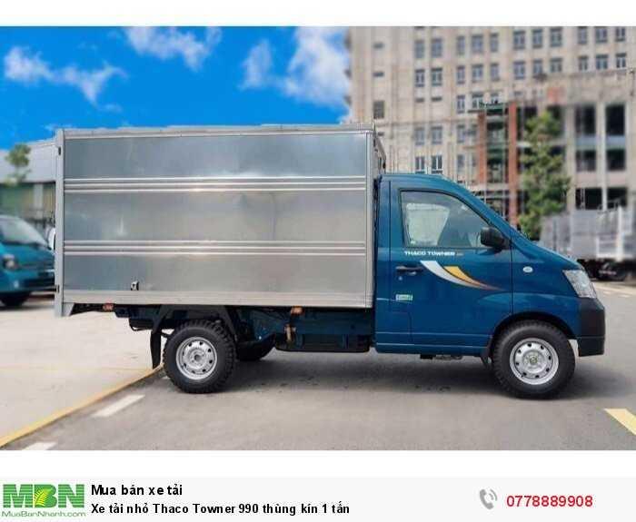 Xe tải nhỏ Thaco Towner 990 thùng kín 1 tấn 3