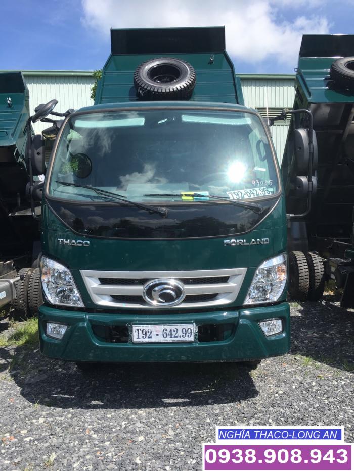 bán xe ben 3,5 tấn 3 khối hỗ trợ trả góp tại thaco Long An Tiền Giang Bến Tre