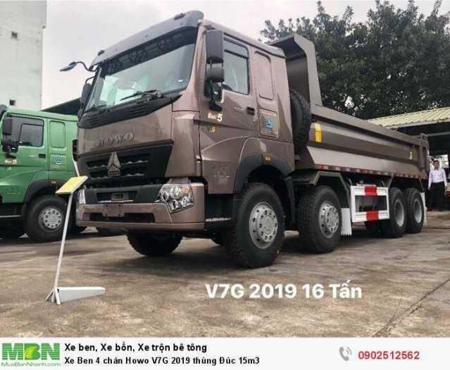 Xe Ben 4 chân Howo V7G 2019 thùng Đúc 15m3