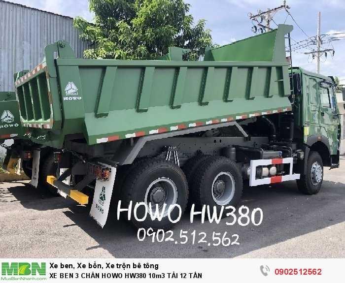 XE BEN 3 CHÂN HOWO HW380 10m3 TẢI 12 TẤN